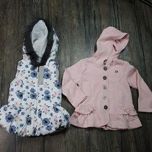 NWT Calvin Klein girl vest + coat size 3T NEW!